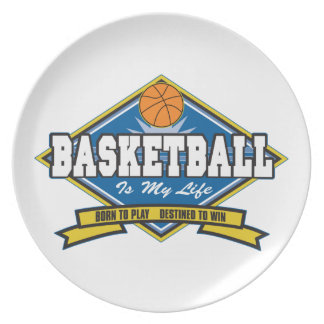 Basketball is My Life Melamine Plate