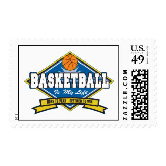 Basketball is My Life Postage Stamp