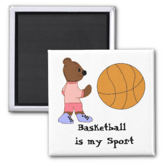 Basketball is my Sport 2 Inch Square Magnet