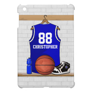 Basketball Jersey Blue and White iPad Mini Cases