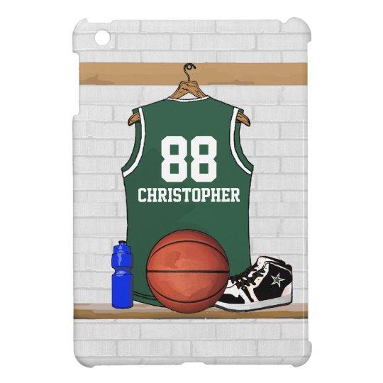Basketball Jersey Green and White iPad Mini Case