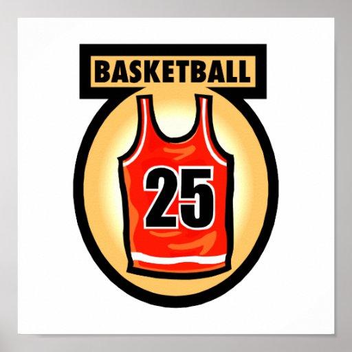Basketball Jersey & Logo Posters