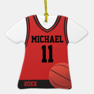 Basketball Jersey Personalized Ornament