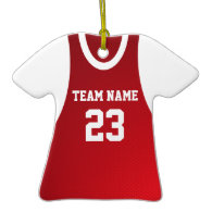 Basketball Jersey Photo Red Ornament