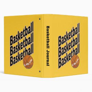 Basketball Journal 3 Ring Binder