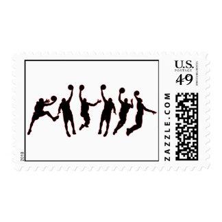 Basketball Jump Postage Stamp