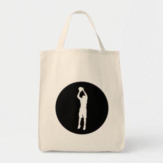 Basketball Jump Shot Canvas Bags