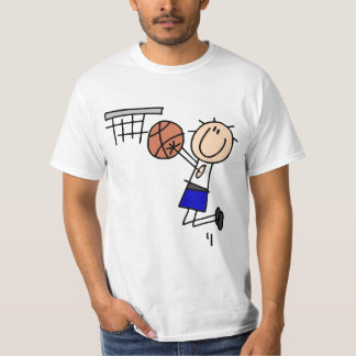 Basketball Jump Shot Blue T-shirts and Gifts