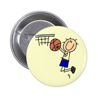 Basketball Jump Shot Blue T-shirts and Gifts Buttons