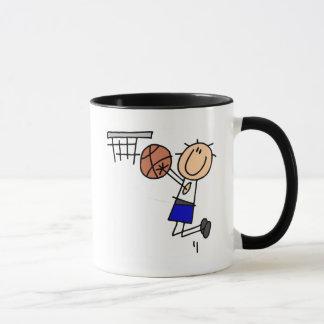 Basketball Jump Shot Blue T-shirts and Gifts Mug