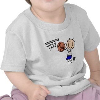 Basketball Jump Shot Blue T-shirts and Gifts