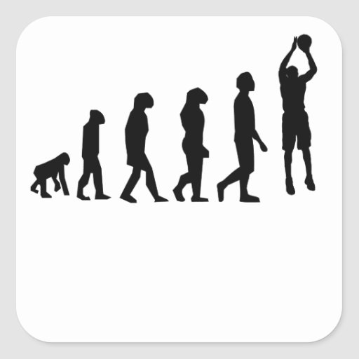 Basketball Jump Shot Evolution Sticker