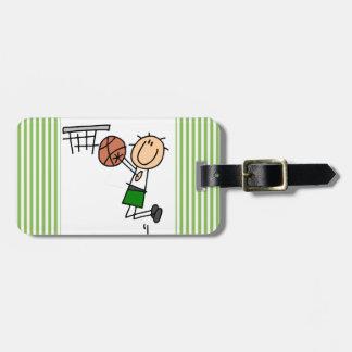 Basketball Jump Shot Green T-shirts and Gifts Bag Tag
