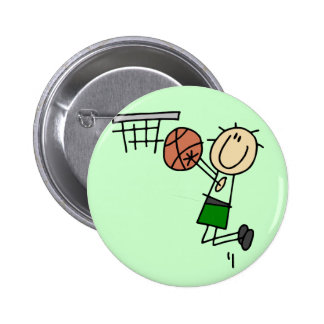 Basketball Jump Shot - Green T-shirts and Gifts Pinback Buttons