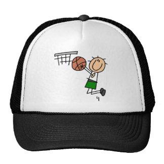 Basketball Jump Shot - Green T-shirts and Gifts Trucker Hat
