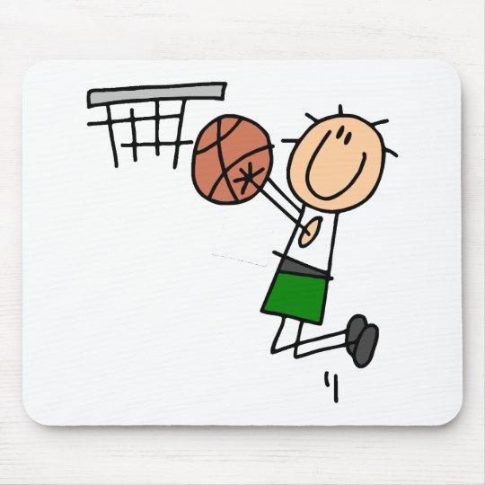 Basketball Jump Shot - Green T-shirts and Gifts Mouse Pad