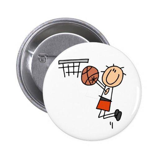 Basketball Jump Shot - Orange T-shirts and Gifts Pin