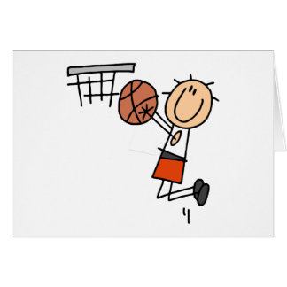 Basketball Jump Shot - Orange T-shirts and Gifts Card