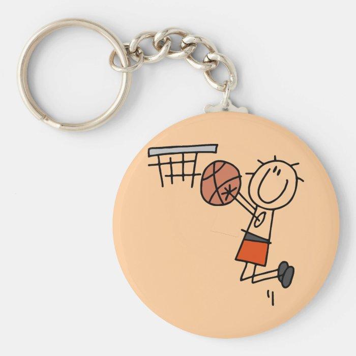 Basketball Jump Shot - Orange T-shirts and Gifts Keychain