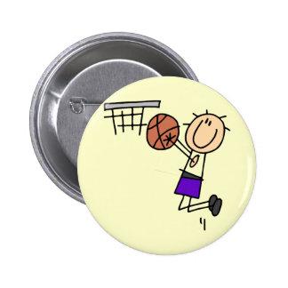 Basketball Jump Shot - Purple Tshirts and Gifts Pinback Button