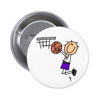Basketball Jump Shot - Purple Tshirts and Gifts Pinback Buttons