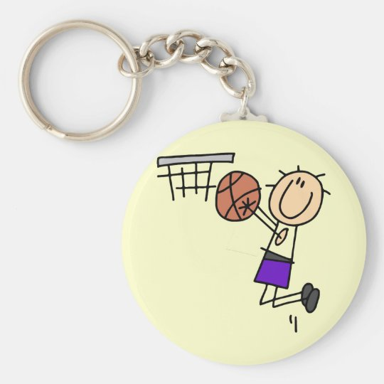 Basketball Jump Shot - Purple Tshirts and Gifts Keychain