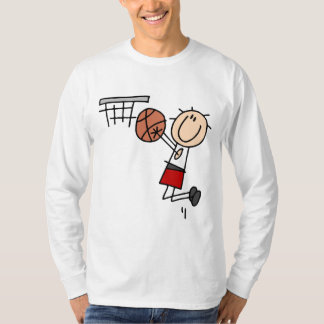 Basketball Jump Shot Red Tshirts and Gifts