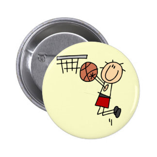 Basketball Jump Shot Red Tshirts and Gifts Pinback Button