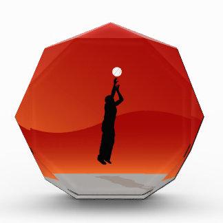 Basketball Jump Shot Silhouette Vector Award