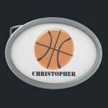 "Basketball Just Add Name Belt Buckle<br><div class=""desc"">Basketball Design Belt Buckle. This fun basketball design makes a great gift for any sports lover. Customize with any text of your choice. Design by justbyjulie</div>"