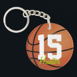 "Basketball Keychain<br><div class=""desc"">Basketball keychain with custom name by WRKDesigns.</div>"