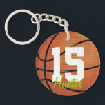 """Basketball Keychain<br><div class=""""desc"""">Basketball keychain with custom name by WRKDesigns.</div>"""