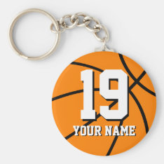 Basketball Keychain | Personalized Name And Number at Zazzle