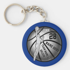 Basketball Keychains, 4 Text Boxes And Your Colors Keychain at Zazzle
