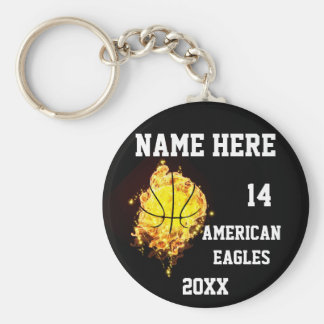 Basketball Keychains with Flame