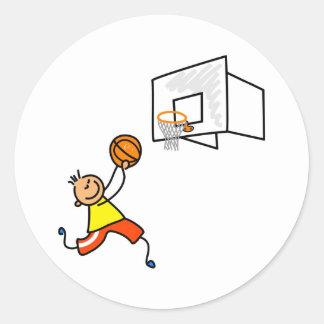 Basketball Kid Stickers
