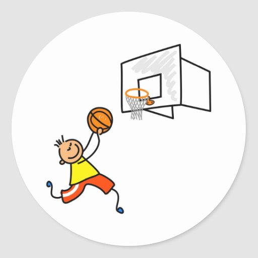 Basketball Kid Stickers