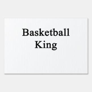 Basketball King Lawn Sign