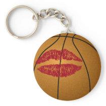 basketball kiss keychain
