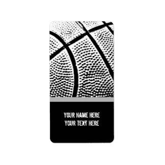 Basketball Personalized Address Labels