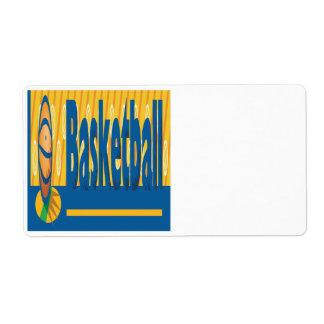 Basketball Shipping Label