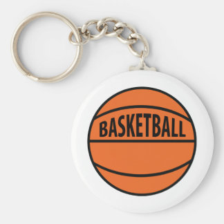 basketball labelled icon keychain