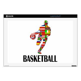 Basketball Laptop Decal