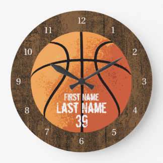 Basketball Large Clock