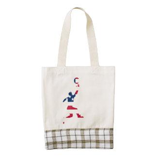 Basketball Layup American Flag Zazzle HEART Tote Bag