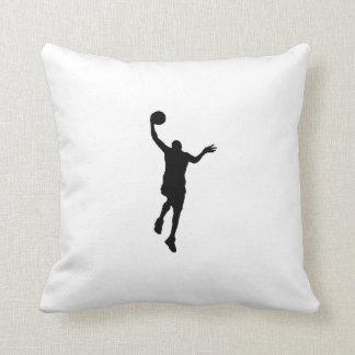 Basketball Layup Silhouette Throw Pillows