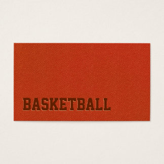 Basketball Leather Coach Sport Business Cards