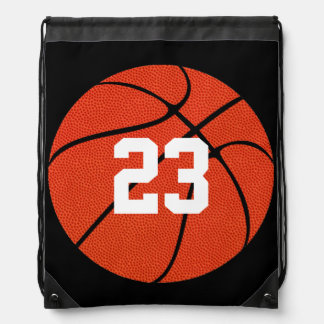 Basketball Leather Custom Draw String Backpack
