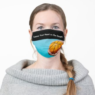 Basketball Leave Your Heart on the Court Cloth Face Mask