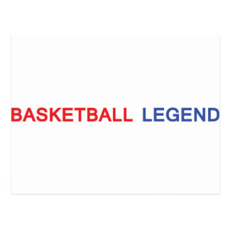 basketball legend icon postcard